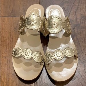 Jack Rogers - Lauren sandal - Gold - Like new!